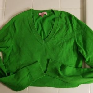 Lilly Pulitzer Classic Green Cotton Blend Sweater